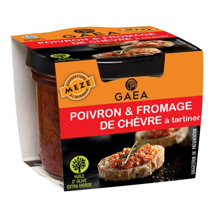 Poivron et fromage de chèvre à tartiner - AIL AIL AIL