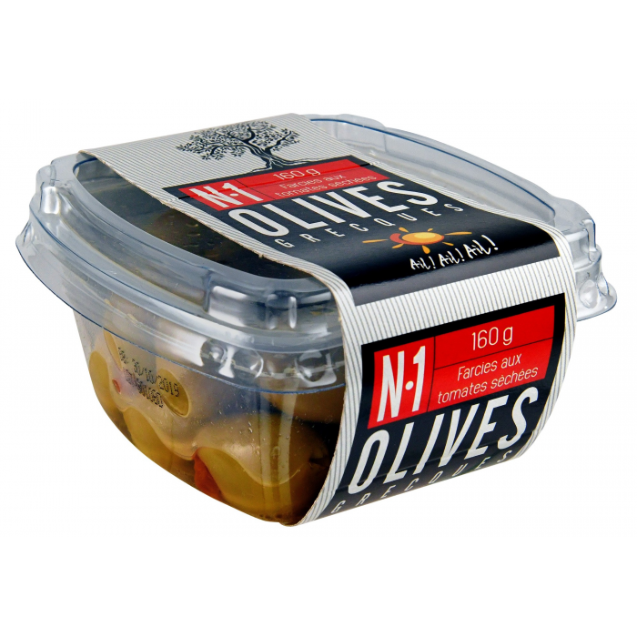 Olives vertes farcies aux tomates séchées - AIL AIL AIL